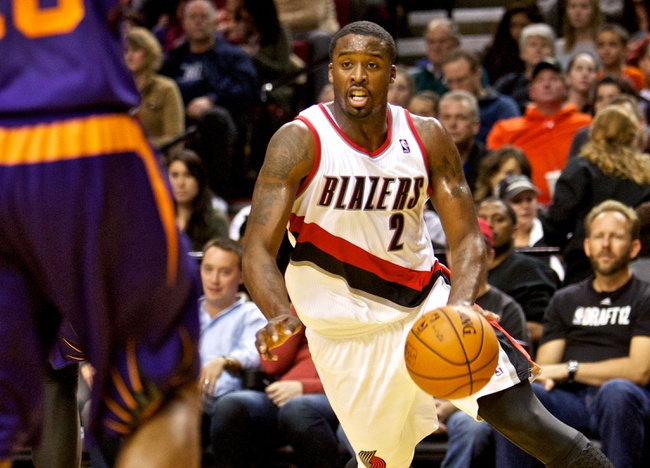 Oct 9, 2013; Portland, OR, USA; Portland Trail Blazers shooting guard Wesley Matthews (2) drives to the basket against the Phoenix Suns at the Moda Center. Mandatory Credit: Craig Mitchelldyer-USA TODAY Sports