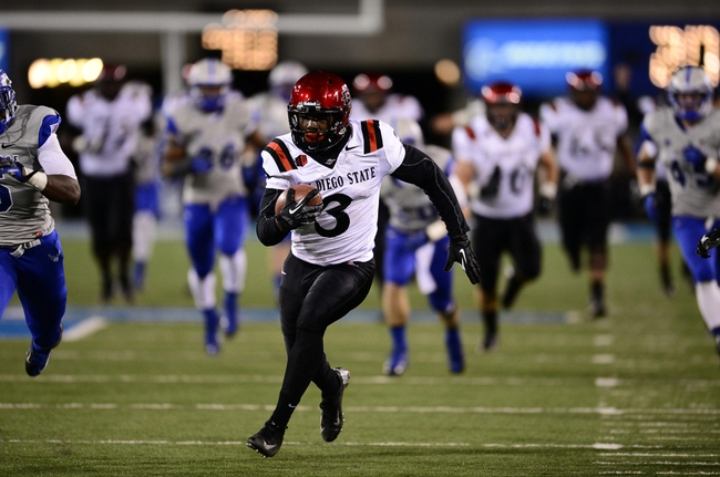 Oct 10, 2013; Colorado Springs, CO, USA; San Diego State Aztecs wide receiver Ezell Ruffin (3) runs for a sixty yard touchdown in the fourth quarter against the Air Force Falcons at Falcon Stadium. Mandatory Credit: Ron Chenoy-USA TODAY Sports