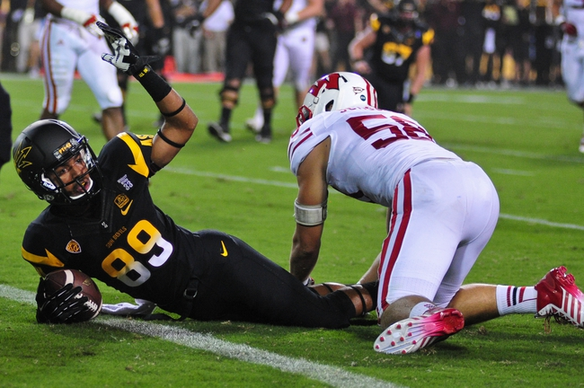 Sep 14, 2013; Tempe, AZ, USA; Arizona State Sun Devils wide receiver Frederick Gammage (89) during the game against the Wisconsin Badgers at Sun Devil Stadium. Mandatory Credit: Matt Kartozian-USA TODAY Sports