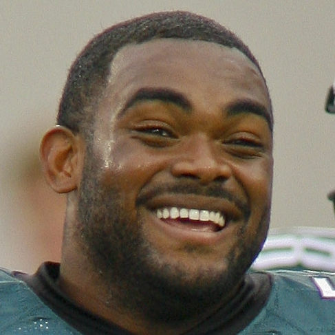 Aug 24, 2013; Jacksonville, FL, USA; Philadelphia Eagles linebacker Brandon Graham (55) smiles prior to the start of their game against the Jacksonville Jaguars at EverBank Field. The Philadelphia Eagles beat the Jacksonville Jaguars 31-24. Mandatory Credit: Phil Sears-USA TODAY Sports