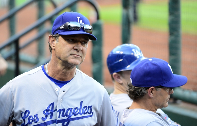 Oct 12, 2013; St. Louis, MO, USA; Los Angeles Dodgers manager Don Mattingly during the 8th inning against the Los Angeles Dodgers in game two of the National League Championship Series baseball game at Busch Stadium. Mandatory Credit: Jeff Curry-USA TODAY Sports