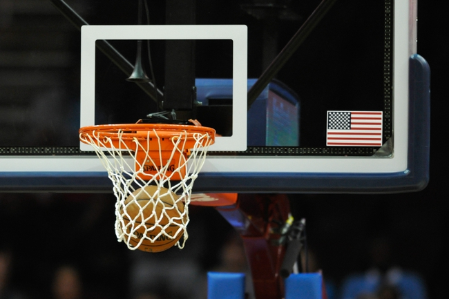 Oct 8, 2013; A general view of a basketball, rim and net during a game between the Cleveland Cavaliers and the Milwaukee Bucks at Quicken Loans Arena. Cleveland won 99-87. Mandatory Credit: David Richard-USA TODAY Sports