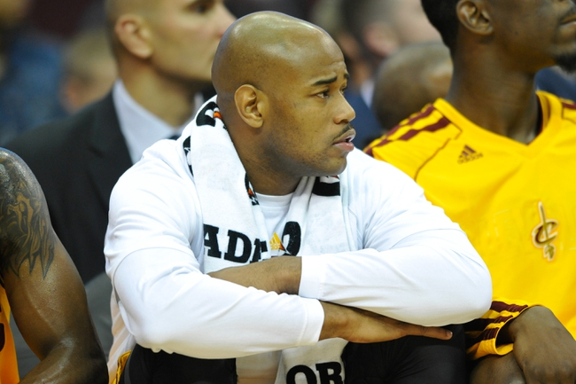 Oct 8, 2013; Cleveland Cavaliers point guard Jarrett Jack during a game against the Milwaukee Bucks at Quicken Loans Arena. Cleveland won 99-87. Mandatory Credit: David Richard-USA TODAY Sports