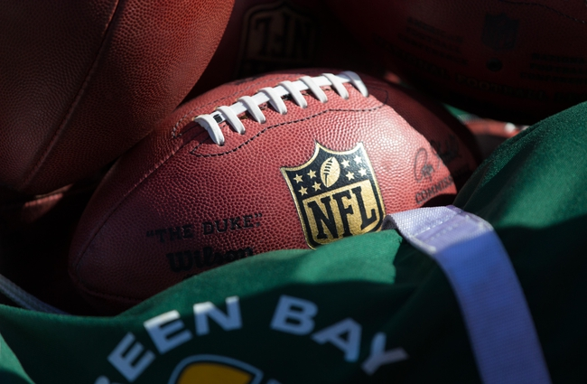 Oct 6, 2013; Green Bay, WI, USA; An NFL football during the game between the Detroit Lions and Green Bay Packers at Lambeau Field.  Green Bay won 22-9.  Mandatory Credit: Jeff Hanisch-USA TODAY Sports