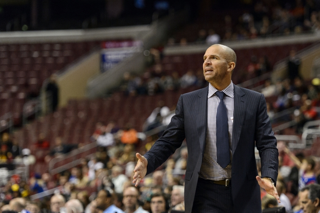 Oct 14, 2013; Philadelphia, PA, USA; Brooklyn Nets head coach Jason Kidd during the fourth quarter against the Philadelphia 76ers at Wells Fargo Center. The Nets defeated the Sixers 127-97. Mandatory Credit: Howard Smith-USA TODAY Sports
