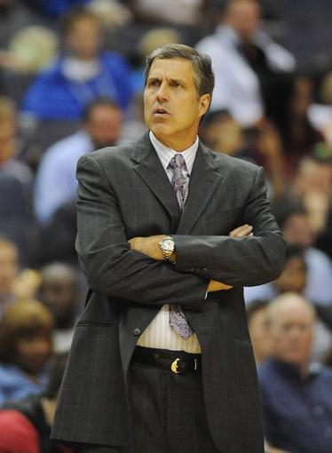 Oct 15, 2013; Washington, DC, USA; Washington Wizards head coach Randy Wittman during the second half against the Miami Heat at the Verizon Center. Mandatory Credit: Brad Mills-USA TODAY Sports