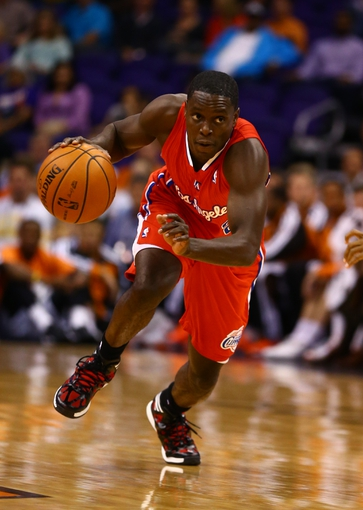 Oct 15, 2013; Phoenix, AZ, USA; Los Angeles Clippers guard Darren Collison against the Phoenix Suns at US Airways Center. Mandatory Credit: Mark J. Rebilas-USA TODAY Sports