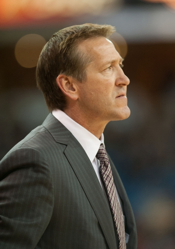 Oct 17, 2013; Sacramento, CA, USA; Phoenix Suns head coach Jeff Hornacek looks on during the second quarter of the game against the Sacramento Kings at Sleep Train Arena. Mandatory Credit: Ed Szczepanski-USA TODAY Sports