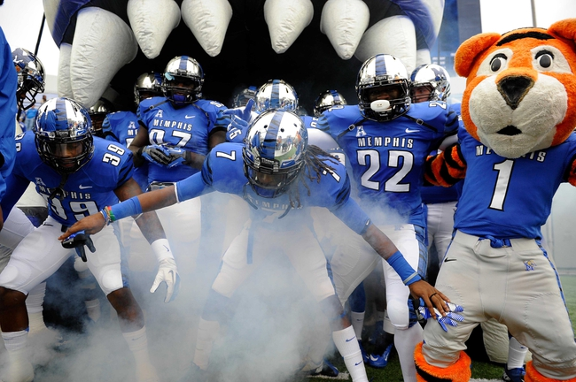 Oct 19, 2013; Memphis, TN, USA; Memphis Tigers get ready before the game against Southern Methodist Mustangs at Liberty Bowl Memorial. Mandatory Credit: Justin Ford-USA TODAY Sports