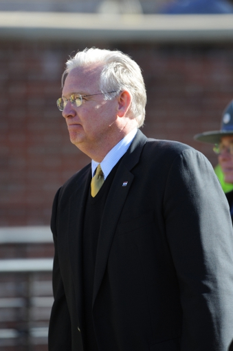 Oct 19, 2013; Columbia, MO, USA; Missouri governor Jay Nixon watches play during the second half of the game between the Florida Gators and Missouri Tigers at Faurot Field. Missouri won 36-17. Mandatory Credit: Denny Medley-USA TODAY Sports