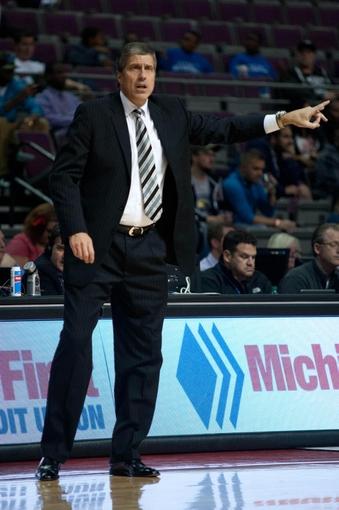 Oct 22, 2013; Auburn Hills, MI, USA; Washington Wizards head coach Randy Wittman during the second half against the Detroit Pistons at The Palace of Auburn Hills. Pistons won 99-96. Mandatory Credit: Tim Fuller-USA TODAY Sports