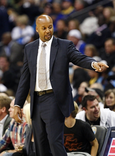 Oct 23, 2013; Denver, CO, USA; Denver Nuggets head coach Brian Shaw in the fourth quarter against the Phoenix Suns at the Pepsi Center. The Suns won 98-79. Mandatory Credit: Isaiah J. Downing-USA TODAY Sports