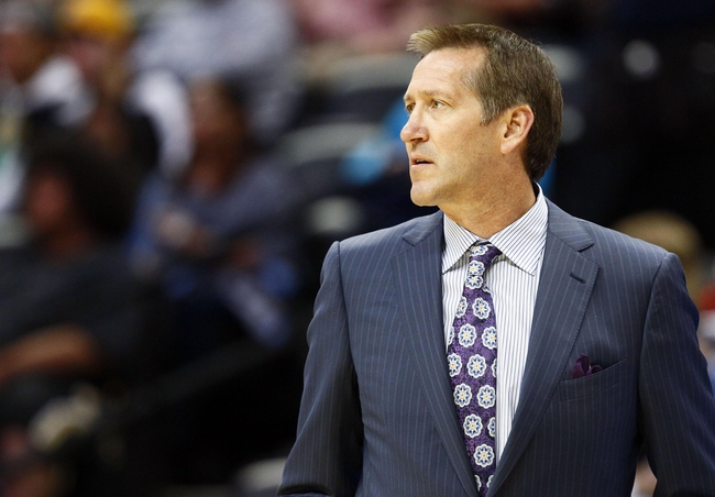 Oct 23, 2013; Denver, CO, USA; Phoenix Suns head coach Jeff Hornacek in the third quarter against the Denver Nuggets at the Pepsi Center. The Suns won 98-79. Mandatory Credit: Isaiah J. Downing-USA TODAY Sports