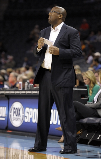 Oct 24, 2013; Charlotte, NC, USA; Cleveland Cavaliers head coach Mike Brown during the game against the Charlotte Bobcats at Time Warner Cable Arena. Mandatory Credit: Sam Sharpe-USA TODAY Sports