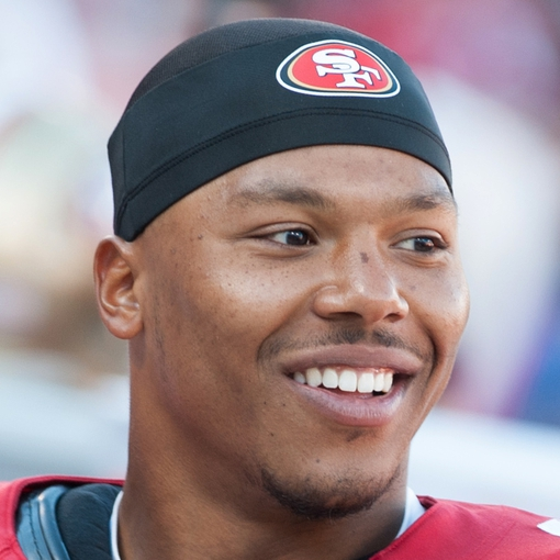 Oct 13, 2013; San Francisco, CA, USA; San Francisco 49ers defensive back Darryl Morris (40) smiles during the game against the Arizona Cardinals at Candlestick Park. Mandatory Credit: Ed Szczepanski-USA TODAY Sports