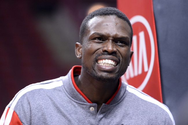 Oct 25, 2013; Chicago, IL, USA; Chicago Bulls small forward Luol Deng (9) practices before the game against the Denver Nuggets at the United Center. Mandatory Credit: Mike DiNovo-USA TODAY Sports