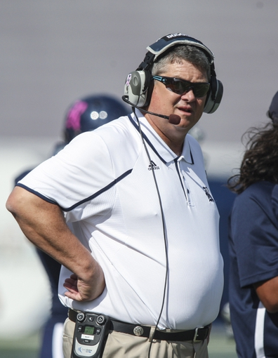 Oct 26, 2013; Houston, TX, USA; Rice Owls head coach David Bailiff watches from the sideline during the first quarter against the UTEP Miners at Rice Stadium. Mandatory Credit: Troy Taormina-USA TODAY Sports