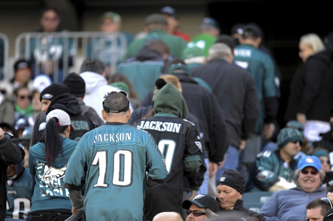 Oct 27, 2013; Philadelphia, PA, USA; Philadelphia Eagles fans leave the game against the New York Giants during the second half at Lincoln Financial Field. The Giants won the game 15-7. Mandatory Credit: Joe Camporeale-USA TODAY Sports
