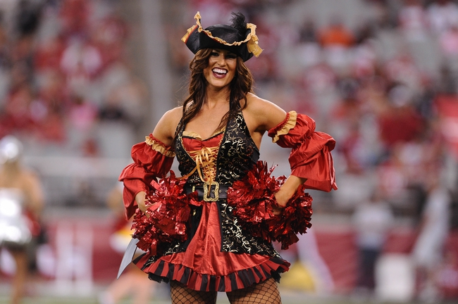 Oct 27, 2013; Phoenix, AZ, USA; Arizona Cardinals cheerleader performs in a Halloween costumes in the game against the Atlanta Falcons at University of Phoenix Stadium. The Cardinals defeated the Falcons 27-13. Mandatory Credit: Jennifer Stewart-USA TODAY Sports