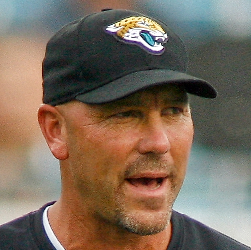 Aug 24, 2013; Jacksonville, FL, USA; Jacksonville Jaguars head coach Gus Bradley encourages his team prior to the start of their game at EverBank Field. Mandatory Credit: Phil Sears-USA TODAY Sports