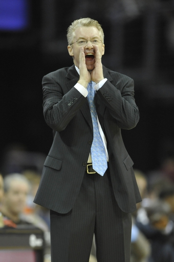 Oct 30, 2013; Cleveland, OH, USA; Brooklyn Nets assistant coach Joe Prunty yells in the third quarter against the Cleveland Cavaliers at Quicken Loans Arena. Mandatory Credit: David Richard-USA TODAY Sports