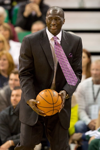 Oct 30, 2013; Salt Lake City, UT, USA; Utah Jazz head coach Tyrone Corbin reacts during the second half against the Oklahoma City Thunder at EnergySolutions Arena. Oklahoma City won 101-98. Mandatory Credit: Russ Isabella-USA TODAY Sports