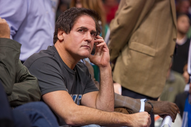 Oct 25, 2013; Dallas, TX, USA; Dallas Mavericks owner Mark Cuban watches the Mavericks take on the Indiana Pacers during the game at the American Airlines Center. The Pacers defeated the Mavericks 98-77. Mandatory Credit: Jerome Miron-USA TODAY Sports