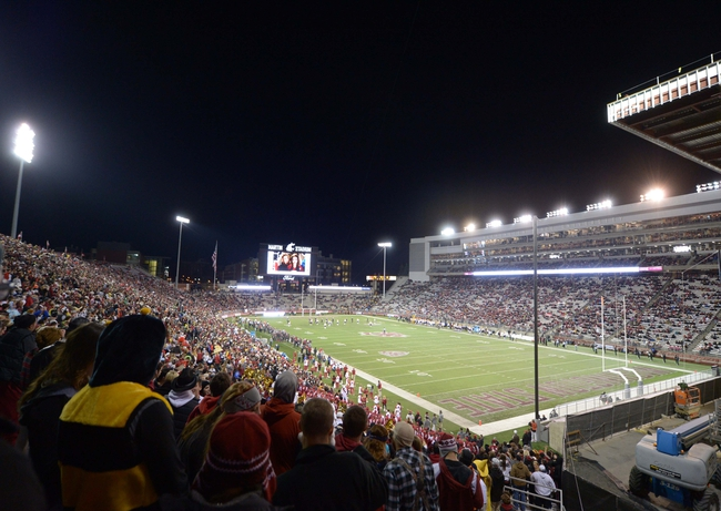 Oct 31, 2013; Pullman, WA, USA; General view of Martin Stadium during the NCAA football game between the Arizona State Sun Devils and the Washington State Cougars. Mandatory Credit: Kirby Lee-USA TODAY Sports