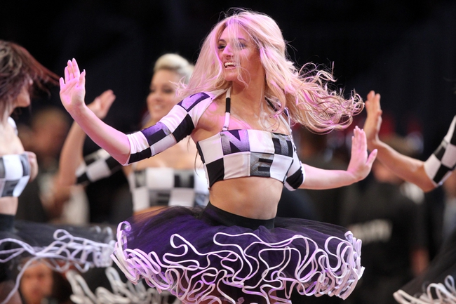 Nov 1, 2013; Brooklyn, NY, USA; The Brooklynettes dance team performs during the third quarter of a game between the Miami Heat and the Brooklyn Nets at Barclays Center. Mandatory Credit: Brad Penner-USA TODAY Sports