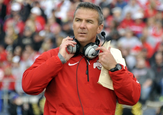 Nov 2, 2013; West Lafayette, IN, USA;  Ohio State Buckeyes head coach Urban Meyer in the first half against the Purdue Boilermakers at Ross Ade Stadium. Mandatory Credit: Sandra Dukes-USA TODAY Sports