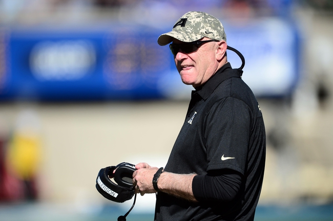 Nov 2, 2013; Colorado Springs, CO, USA; Army Black Knights head coach Rich Ellerson on his sidelines in the third quarter against the Air Force Falcons at Falcon Stadium. The Falcons defeated the Black Knights 42-28. Mandatory Credit: Ron Chenoy-USA TODAY Sports