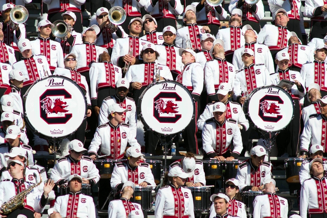 Nov 2, 2013; Columbia, SC, USA; The South Carolina Gamecocks band plays during the game against the Mississippi State Bulldogs at Williams-Brice Stadium. The Gamecocks defeated the Bulldogs 34-16.  Mandatory Credit: Jeremy Brevard-USA TODAY Sports