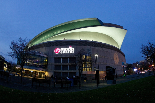 Nov 5, 2013; Portland, OR, USA; General view of the Moda Center before a game between the Portland Trailblazers and Houston Rockets. Mandatory Credit: Craig Mitchelldyer-USA TODAY Sports