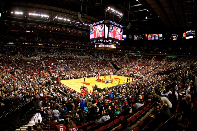 Nov 5, 2013; Portland, OR, USA; General view of the Moda Center during a game between the Portland Trail Blazers and Houston Rockets. Mandatory Credit: Craig Mitchelldyer-USA TODAY Sports