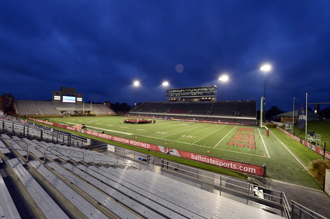 Nov 6, 2013; Muncie, IN, USA; A general view as the Ball State Cardinals band warms up before the game against the Michigan Central Chippewas at Scheumann Stadium. Mandatory Credit: Marc Lebryk-USA TODAY Sports
