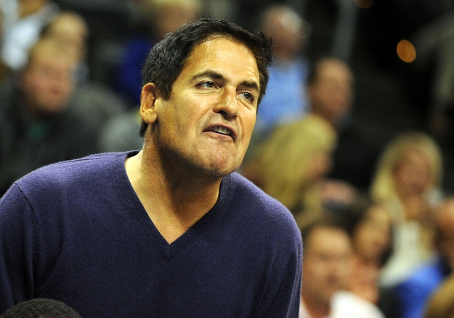 Nov 6, 2013; Oklahoma City, OK, USA; Dallas Mavericks owner and television entertainer Mark Cuban reacts to a play in action against the Oklahoma City Thunder during the fourth quarter at Chesapeake Energy Arena. Mandatory Credit: Mark D. Smith-USA TODAY Sports