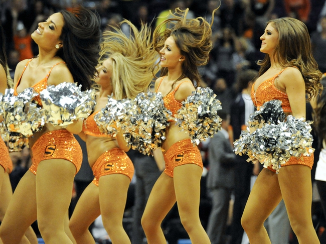 Nov 8, 2013; Phoenix, AZ, USA; Phoenix Suns dancers perform during the fourth quarter against the Denver Nuggets at US Airways Center. The Suns defeated the Nuggets 114-103. Mandatory Credit: Casey Sapio-USA TODAY Sports