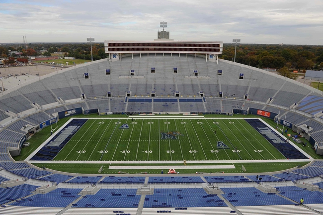 Nov 9, 2013; Memphis, TN, USA; A general view of the stadium before the game between the Memphis Tigers and Tennessee Martin Skyhawks at Liberty Bowl Memorial. Mandatory Credit: Justin Ford-USA TODAY Sports
