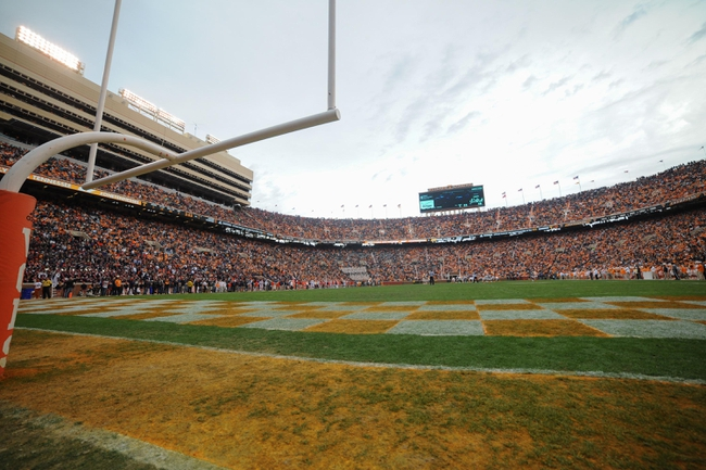 Nov 9, 2013; Knoxville, TN, USA; A general view of Neyland Stadium during the game between the Tennessee Volunteers and the Auburn Tigers. Mandatory Credit: Randy Sartin-USA TODAY Sports