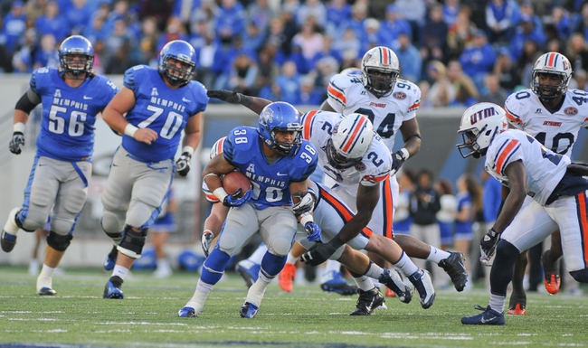 Nov 9, 2013; Memphis, TN, USA; Memphis Tigers running back Brandon Hayes (38) carries the ball against Tennessee Martin Skyhawks during the first quarter at Liberty Bowl Memorial. Mandatory Credit: Justin Ford-USA TODAY Sports