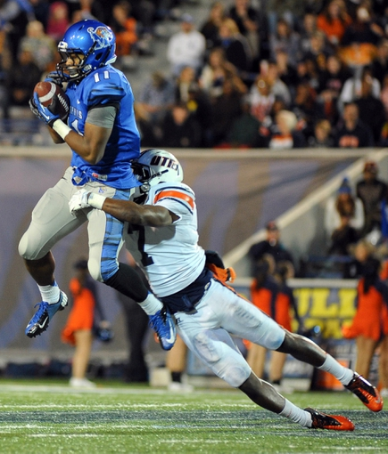 Nov 9, 2013; Memphis, TN, USA; Memphis Tigers wide receiver Tyriq Patrick (11)  catches a pass during the third quarter at Liberty Bowl Memorial. Mandatory Credit: Justin Ford-USA TODAY Sports