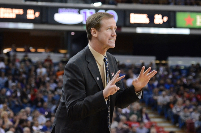November 9, 2013; Sacramento, CA, USA; Portland Trail Blazers head coach Terry Stotts instructs against the Sacramento Kings during the fourth quarter at Sleep Train Arena. The Trail Blazers defeated the Kings 96-85. Mandatory Credit: Kyle Terada-USA TODAY Sports