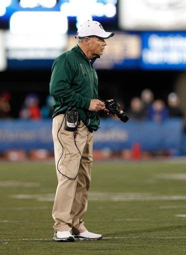 Nov 5, 2013; Buffalo, NY, USA; Ohio Bobcats head coach Frank Solich during the game against the Buffalo Bulls at University of Buffalo Stadium. Mandatory Credit: Kevin Hoffman-USA TODAY Sports