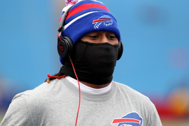 Nov 3, 2013; Orchard Park, NY, USA; Buffalo Bills cornerback Ron Brooks (33) before a game against the Kansas City Chiefs at Ralph Wilson Stadium. Mandatory Credit: Timothy T. Ludwig-USA TODAY Sports