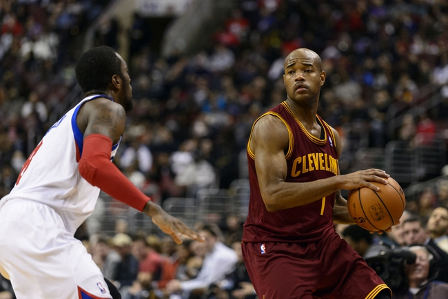 Nov 8, 2013; Philadelphia, PA, USA; Cleveland Cavaliers guard Jarrett Jack (1) during the fourth quarter against the Philadelphia 76ers at Wells Fargo Center. The Sixers defeated the Cavaliers 94-79. Mandatory Credit: Howard Smith-USA TODAY Sports