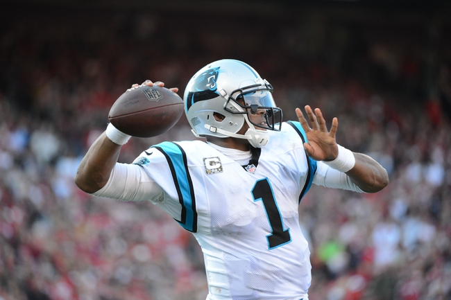 November 10, 2013; San Francisco, CA, USA; Carolina Panthers quarterback Cam Newton (1) warms up on the sideline against the San Francisco 49ers during the fourth quarter at Candlestick Park. The Panthers defeated the 49ers 10-9. Mandatory Credit: Kyle Terada-USA TODAY Sports