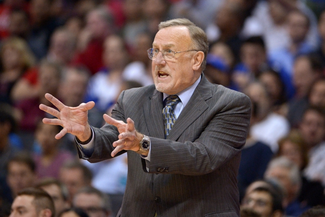 Nov 11, 2013; Los Angeles, CA, USA; Minnesota Timberwolves coach Rick Adelman reacts in the first half against the Los Angeles Clippers at Staples Center. Mandatory Credit: Kirby Lee-USA TODAY Sports