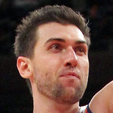 Oct 25, 2013; New York, NY, USA; New York Knicks power forward Andrea Bargnani (77) drives during the third quarter of a preseason game at Madison Square Garden. Mandatory Credit: Brad Penner-USA TODAY Sports
