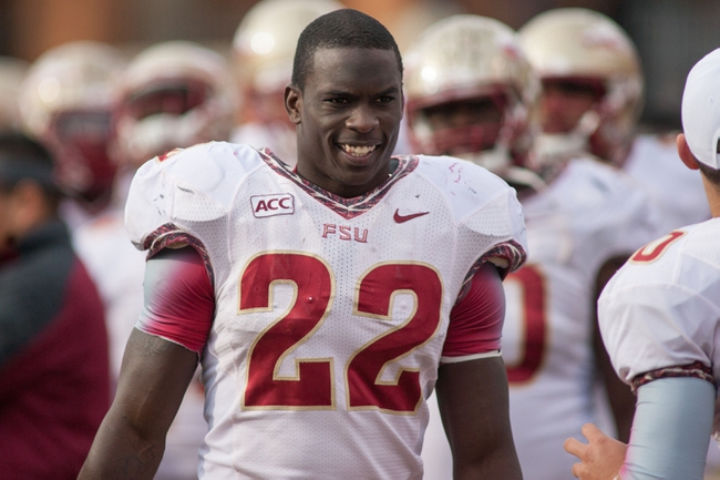Nov 9, 2013; Winston-Salem, NC, USA; Florida State Seminoles linebacker Telvin Smith (22) stands on the sidelines  during the first half against the Wake Forest Demon Deacons at BB&T Field. Florida State defeated Wake Forest 59-3. Mandatory Credit: Jeremy Brevard-USA TODAY Sports