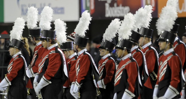 Nov 13, 2013; DeKalb, IL, USA;  Members of the NIU band wait to perform prior to the game against Ball State at Huskie Stadium. Mandatory Credit: Matt Marton-USA TODAY Sports